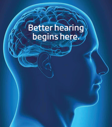 better hearing begins here at the brain
